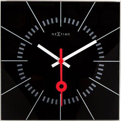 Zegar ścienny Nextime Stazione 35 x 35 cm, czarny (8636 ZW), kolor czarny