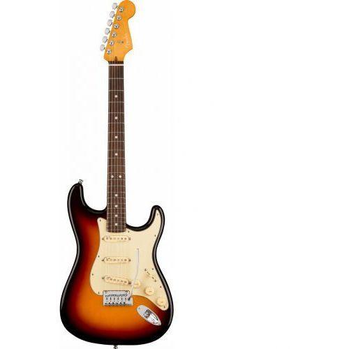 american ultra stratocaster ultraburst gitara elektryczna, podstrunnica palisandrowa marki Fender