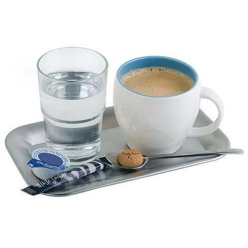Taca prostokątna ze stali nierdzewnej do serwowania kawy 215x130mm marki Aps