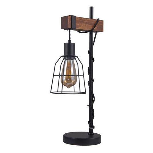 Lampa stołowa Reda 1 x 60 W E27 czarny / drewno, TB-4793-1