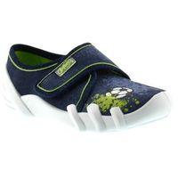Kapcie dziecięce Befado 273X208 Skate - Zielony ||Granatowy, kolor Zielony