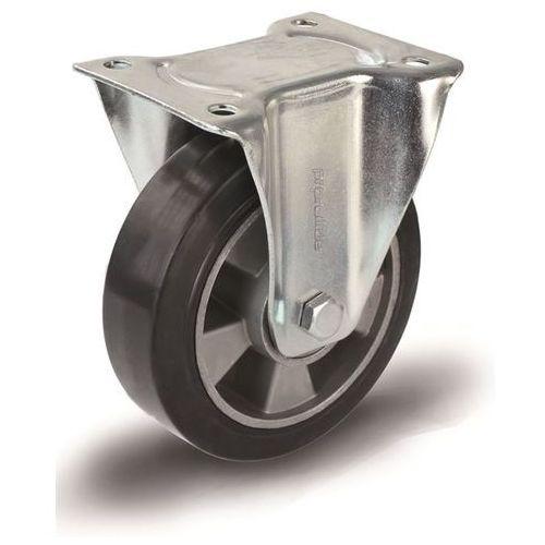 Elastyczne ogumienie pełne, czarne, Ø x szer. kółka 80x38 mm, rolka wsporcza. Na