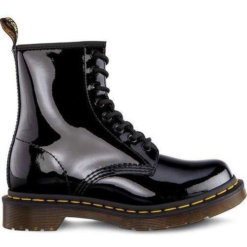 Dr martens 1460 w black patent - buty glany damskie - czarny marki Dr. martens