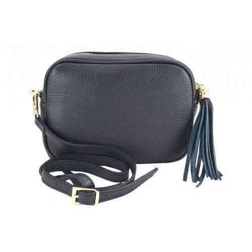 Barberini's - małe torebki listonoszki ze skóry naturalnej - Czarny