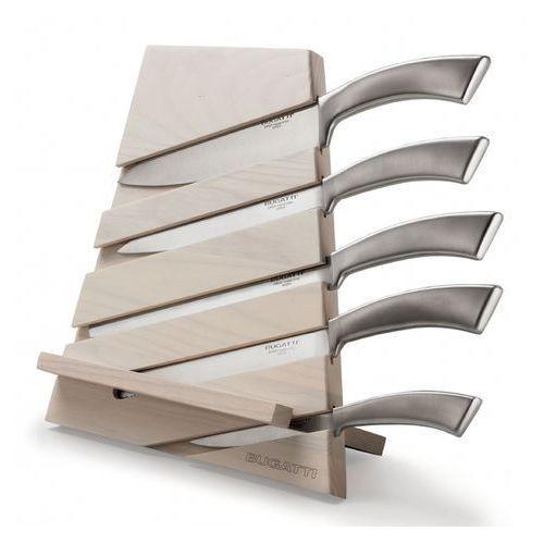 Zestaw 5 noży w bloku bugatti trattoria naturalny marki Casa bugatti