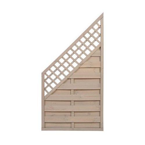 Płot skośny 90x180 cm drewniany TRENTO SOBEX