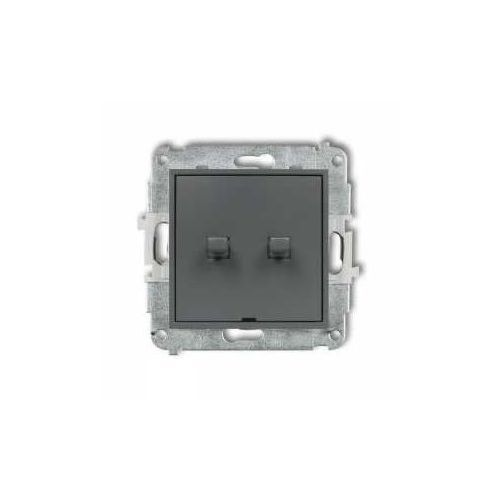 Karlik Przycisk dwubiegunowy mini 28mwpus-44.2 w stylu amerykańskim grafitowy mat (5903268588943)