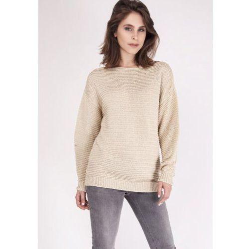 Mkm beatrix swe 097 beżowy sweter marki Mkmswetry