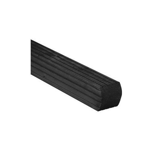 Werth-holz Kantówka drewniana 7x7x180 cm czarna vitrum (5902860164265)