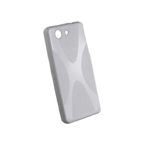 Etui x-shape do sony xperia z3 compact białe - biały marki 4kom.pl