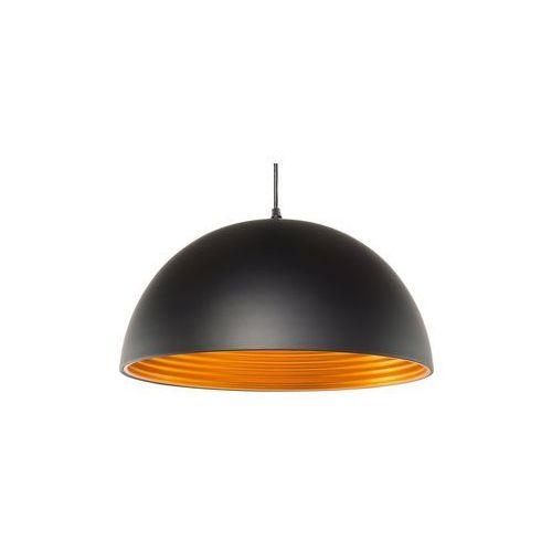 Beliani Lampa sufitowa czarno-złota grand