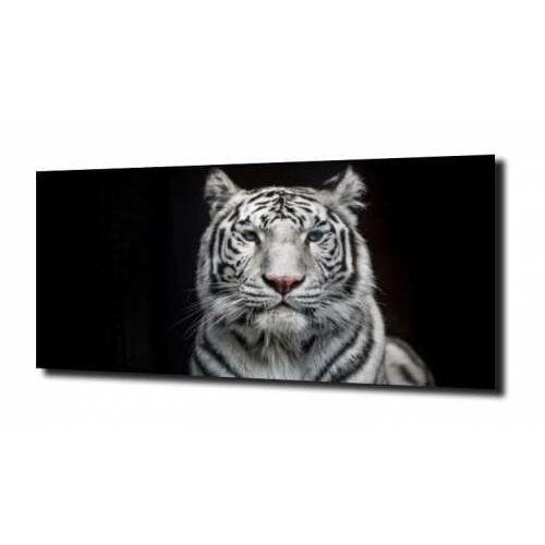 obraz na szkle, panel szklany Biały Tygrys 120X60