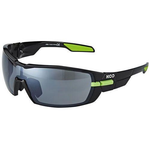 Kask koo okulary rowerowe zaw. 2 pary szkiełek smoke and clear zielony/czarny 2018 okulary (8057099081160)