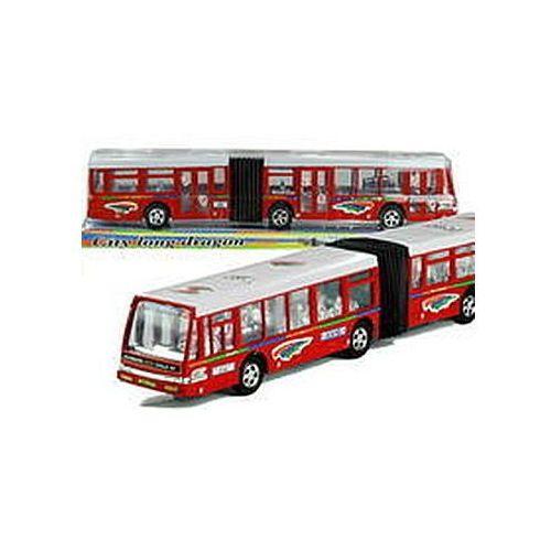 Autobus Przegubowy Friction Duży 41,5 cm Czerwony (1818710948227)