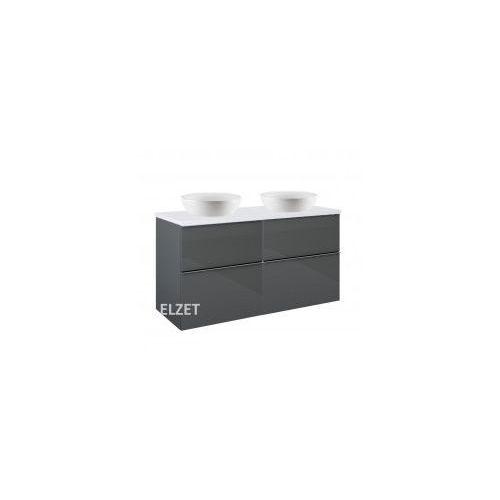 Elita szafka look 2s anthracite pod 2 umywalki nablatowe + blat 120 white 2x167078+166895