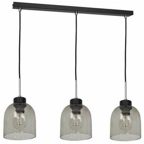 Luminex bogota 1753 lampa wisząca zwis 3x60w e27 czarna/dymiona