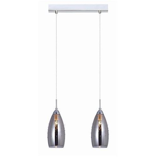 lampa wisząca GRACE 2xE14 szkło lustrzane - BZL, ITALUX MDM2170/2 A