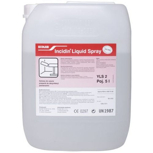 Ecolab Incidin liquid spray® szybko działający alkoholowy preparat do dezynfekcji 5 litrów