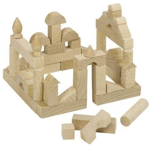 Drewniane klocki dla dzieci Miniatura. 51 elementów
