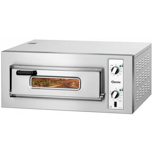 Piec do pizzy 1-komorowy 4000W | 4x Ø 25cm | 400V