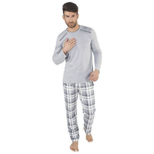 Piżama męska Spencer Italian Fashion - Jasny szary