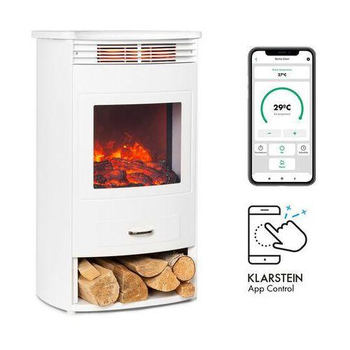 bormio smart, kominek elektryczny, 950/1900 w, termostat, timer tygodniowy, biały marki Klarstein