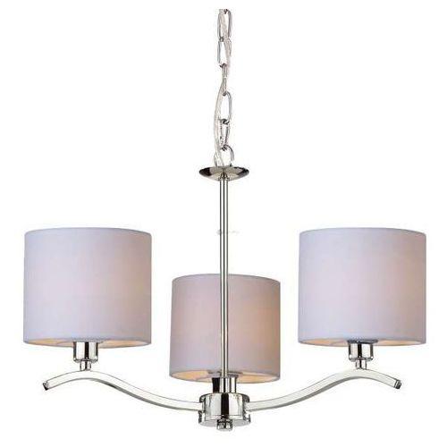 Lampa wisząca carmen rld94103-3 żyrandol oprawa chrom ecru marki Zumaline