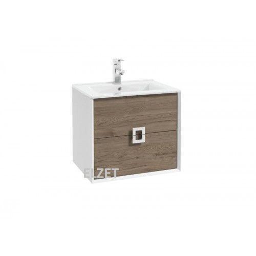 DEFRA szafka podumywalkowa Amura D60 biały połysk/dekor orzech rockford 033-D-06010
