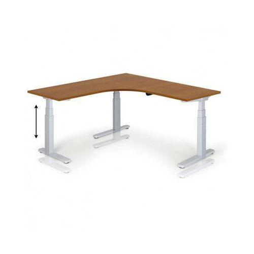 B2b partner Stół z regulacją wysokości, 675-1275 mm, elektryczny, 1600 x 1600 mm, czereśnia
