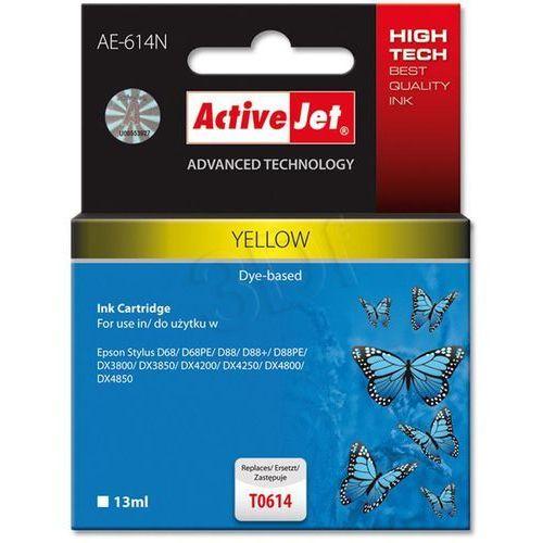 Tusz ActiveJet AE-614N (AE-614) Yellow do drukarki Epson - zamiennik Epson T0614 (5901452127022)
