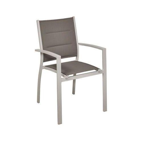 Krzesło ogrodowe venosa aluminiowe srebrne marki Home & garden