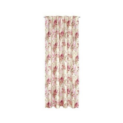 Zasłona ROSA różowa 160 x 250 cm na taśmie