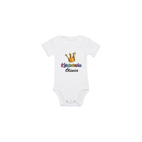 Body dziecięce Księżniczka + Imię, kolor biały