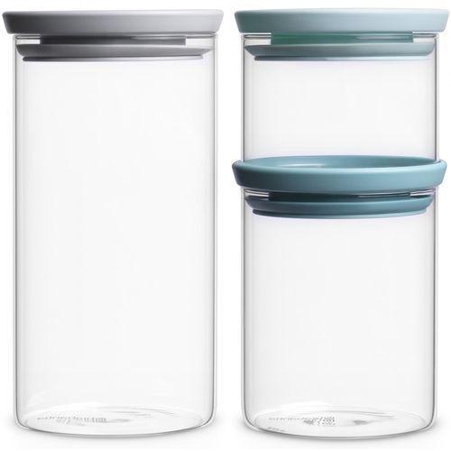 Brabantia zestaw szklanych pojemników, 3 szt. (8710755298325)