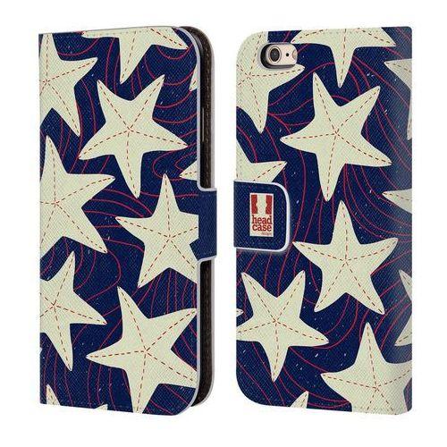 Etui portfel na telefon - Marine Patterns White Starfish, kolor biały