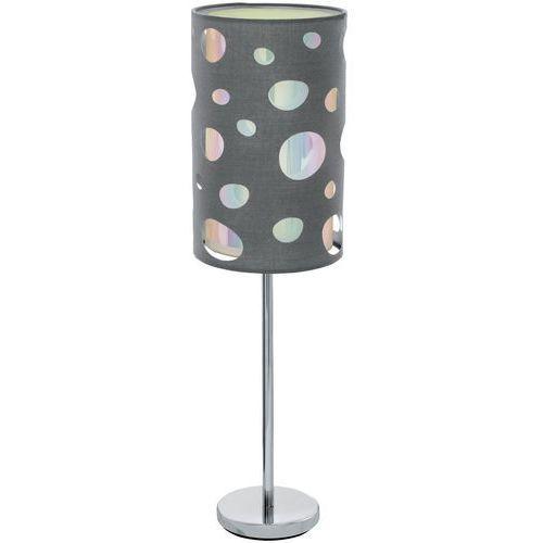 Eglo Lampa stołowa moneda 95736 lampka oprawa 1x60w e27 szara (9002759957360)