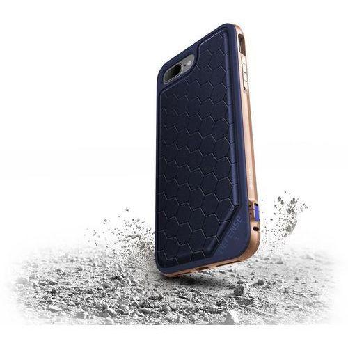 X-Doria Defense Lux - Aluminiowe etui iPhone 7 Plus (Blue/Gold) Odbiór osobisty w ponad 40 miastach lub kurier 24h, kolor niebieski