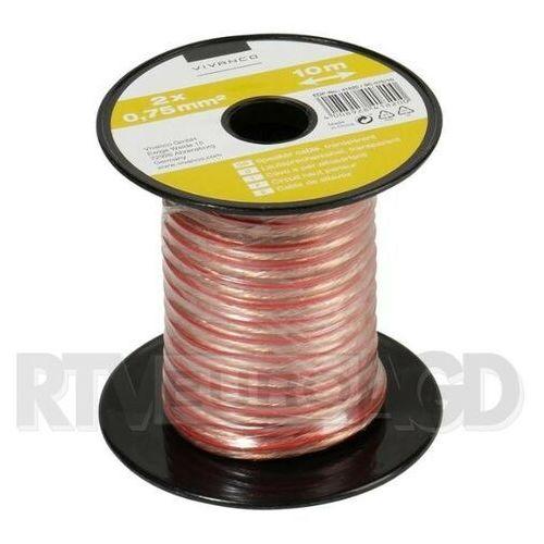 Vivanco Kabel głośnikowy 2 x 0.75mm2 10m (46820) transparentny