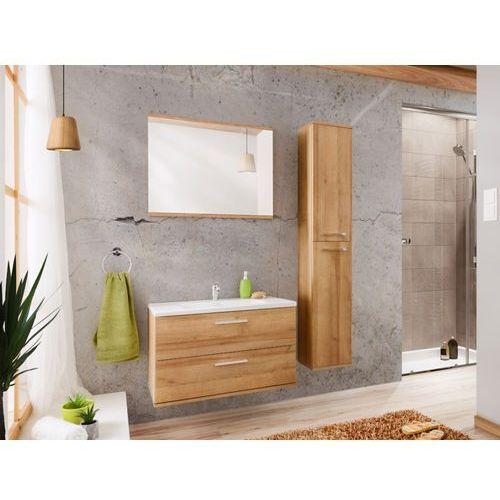 Shower design Zestaw kayla - meble łazienkowe 80 cm - imitacja drewna