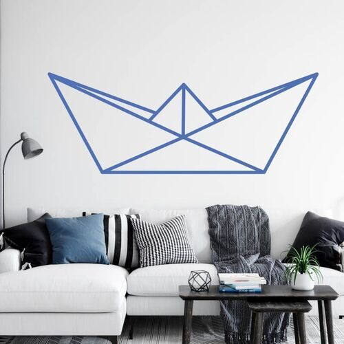 Wally - piękno dekoracji Szablon do malowania papierowa łódka origami 2470