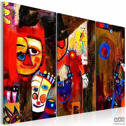 Obraz ręcznie malowany Abstrakcyjny karnawał