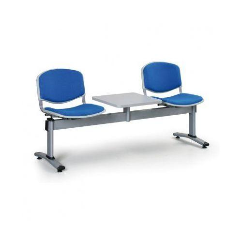Tapicerowana ławka livorno, 2 siedzenia + stołek, niebieski marki Euroseat