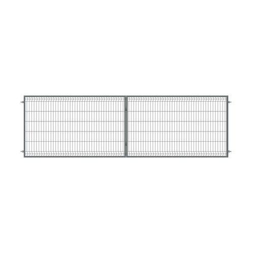 Brama dwuskrzydłowa STARK 400 x 120 cm antracytowa POLBRAM (5900652450343)