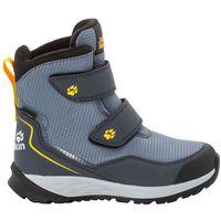 Jack wolfskin Buty zimowe dla dzieci polar bear texapore high vc k pebble grey / burly yellow xt - 40