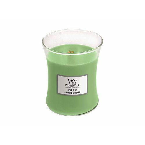 świeca w szkle hemp & ivy medium candle 275,0 gr marki Woodwick