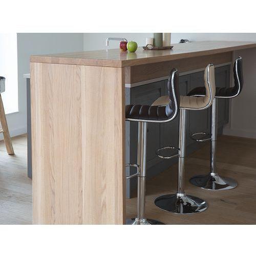 Hoker czarny - krzesło - do jadalni - do kuchni - barowy - lucerne marki Beliani