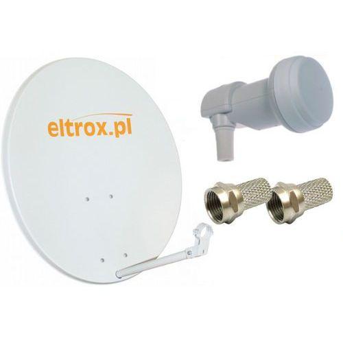 Czasza biała eltrox konwerter zestaw satelitarny hd marki Corab