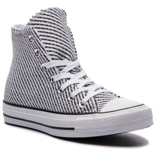 Trampki CONVERSE - Ctas Hi 562460C White/Black/Mason, kolor biały