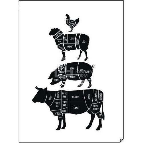 Plakat meat cuts ed. spring 2016 50 x 70 cm marki Follygraph