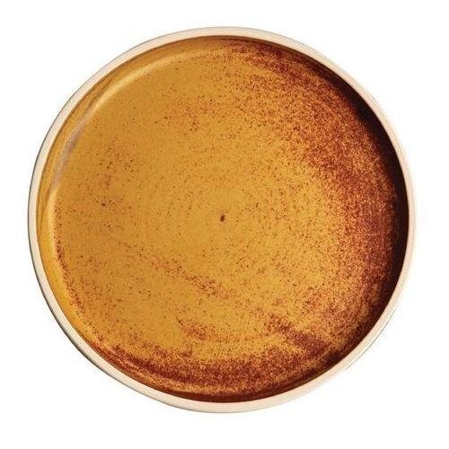 Płaski okrągły talerz, rdzawa sjena 180mm Olympia Canvas (Zestaw 6 sztuk)